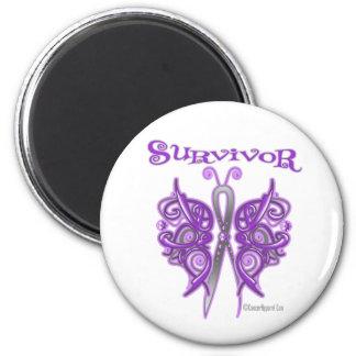 Survivor Celtic Butterfly - Pancreatic Cancer 6 Cm Round Magnet