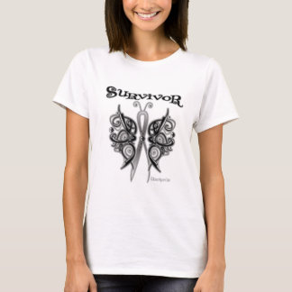 Survivor Celtic Butterfly - Skin Cancer T-Shirt