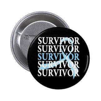 Survivor Collage Prostate Cancer Pin