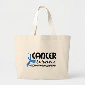 Survivor - Colon cancer awareness Canvas Bags