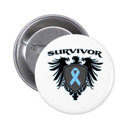 Survivor Crest For Prostate Cancer Survivors Pin