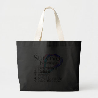 Survivor Definition - Thyroid Cancer Jumbo Tote Bag