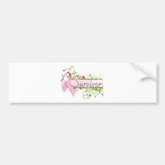 Survivor Floral Pink Bumper Stickers