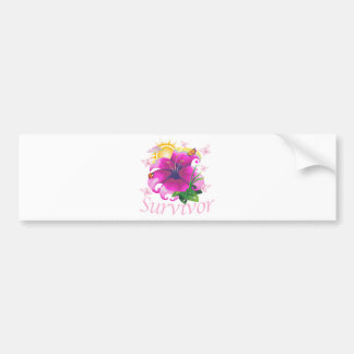 Survivor flower pink bumper stickers