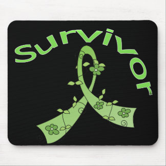 Survivor Flower Ribbon Non-Hodgkin s Lymphoma Mouse Pad