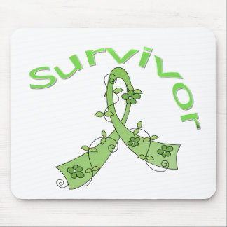 Survivor Flower Ribbon Non-Hodgkin's Lymphoma Mouse Pad