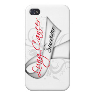 Survivor - Lung Cancer Ribbon iPhone 4 Covers