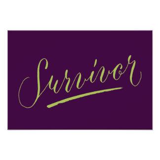Survivor Modern Calligraphy Hand Lettering Design Photo