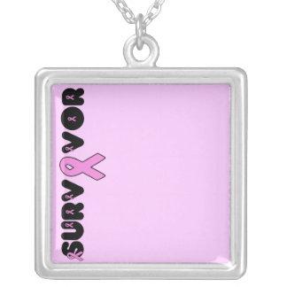 Survivor Square Pendant Necklace