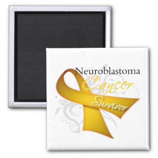 Survivor - Neuroblastoma Square Magnet