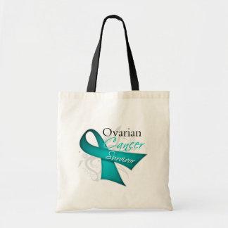 Survivor - Ovarian Cancer Budget Tote Bag
