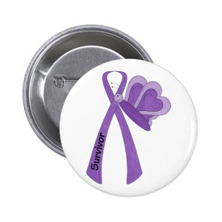 Survivor- Purple Awareness Pins