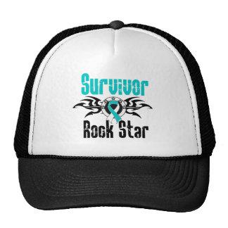 Survivor Rock Star - Cervical Cancer Survivor Trucker Hat