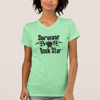 Survivor Rock Star - Skin Cancer Survivor Tee Shirts