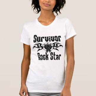 Survivor Rock Star - Skin Cancer Survivor Tshirt