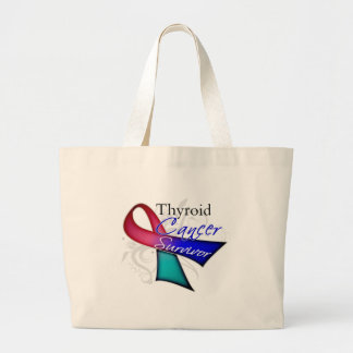 Survivor - Thyroid Cancer Jumbo Tote Bag