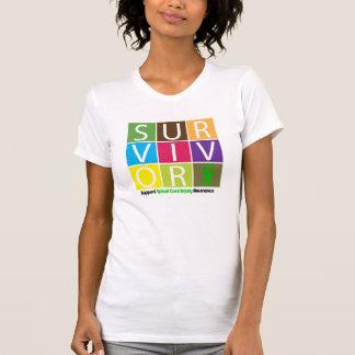 * Survivor Tile Spinal Cord Injury Tshirts