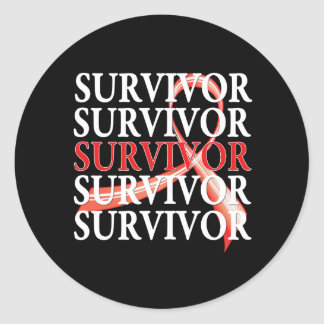 Survivor Whimsical Collage Blood Cancer Sticker