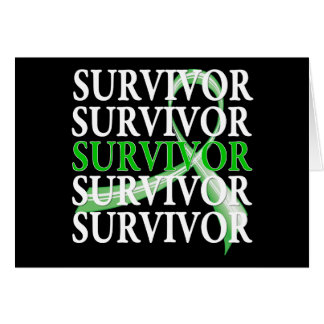 Survivor Whimsical Collage Kidney Cancer Greeting Card