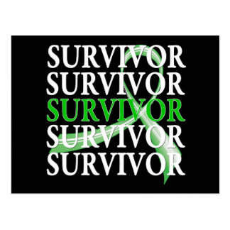 Survivor Whimsical Collage Kidney Cancer Postcard