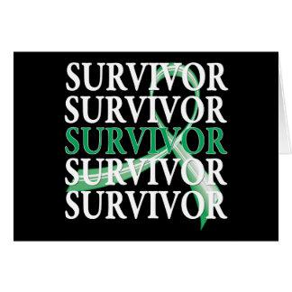 Survivor Whimsical Collage Liver Cancer Greeting Card