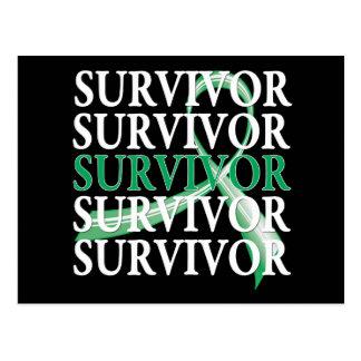 Survivor Whimsical Collage Liver Cancer Postcard