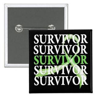 Survivor Whimsical Collage Lymphoma Pinback Button