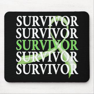 Survivor Whimsical Collage Non-Hodgkin's Lymphoma Mouse Pad