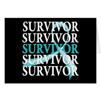 Survivor Whimsical Collage Ovarian Cancer Greeting Card