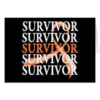 Survivor Whimsical Collage v2 Kidney Cancer Greeting Card