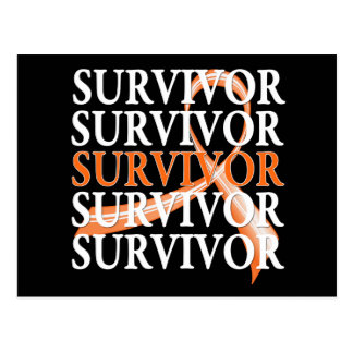 Survivor Whimsical Collage v2 Kidney Cancer Postcard