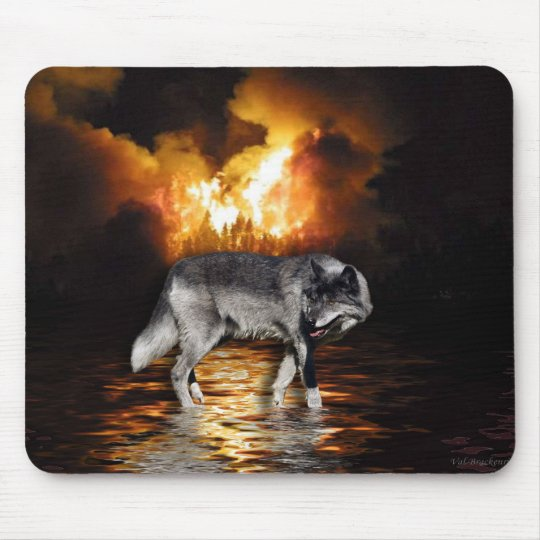 """Survivor"" Wolf Mousepad"