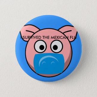 survivorpig 6 cm round badge