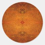 Suryasta Sun Salute Abstract Art Round Sticker