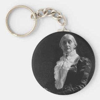 Susan B. Anthony Basic Round Button Key Ring