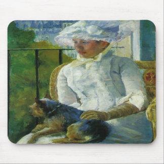 Susan on A Balcony Holding A Dog Mary Cassatt Mouse Pads