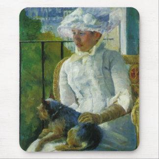 Susan on A Balcony Holding A Dog, Mary Cassatt Mouse Pad