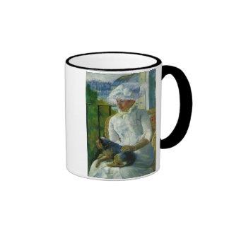 Susan on A Balcony Holding A Dog, Mary Cassatt Ringer Coffee Mug