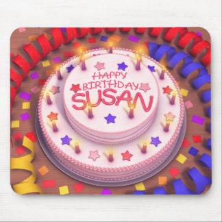 Susan s Birthday Cake Mouse Pads