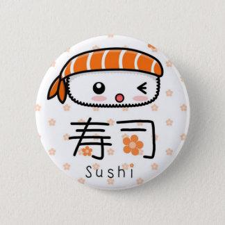 sushi 6 cm round badge
