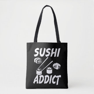 Sushi Addict funny foodie bag