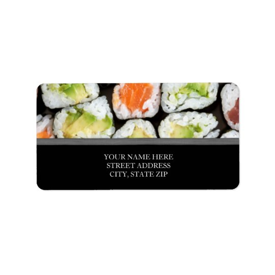 Sushi Address Labels