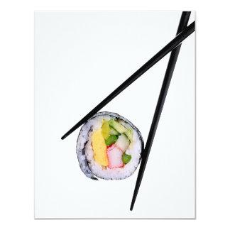 Sushi and black chopsticks  sushi, chopsticks, ric card