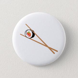 Sushi And Chopsticks 6 Cm Round Badge