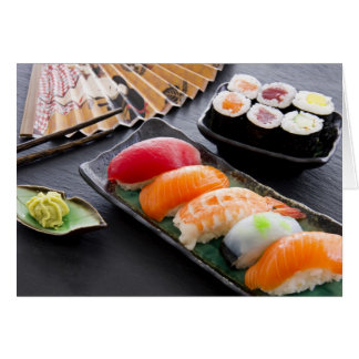 Sushi and rolls card