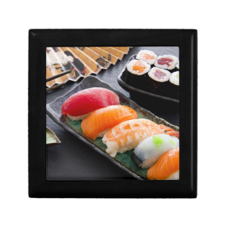 Sushi and rolls small square gift box