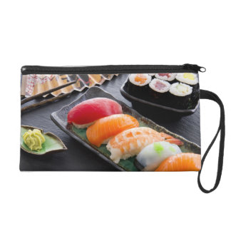 Sushi and rolls wristlet