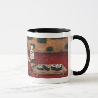 sushi and sake mug, K. Knox, 2007 Mug