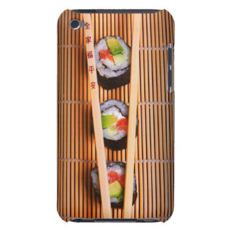 Sushi and wooden chopsticks iPod Case-Mate cases