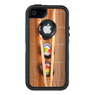 Sushi and wooden chopsticks OtterBox defender iPhone case